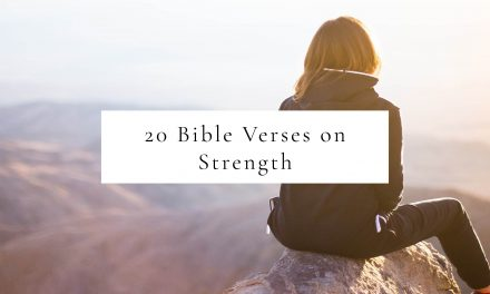 20 Bible Verses for Strength