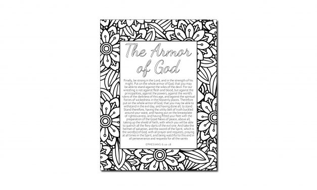 Printable Armor of God Coloring Page