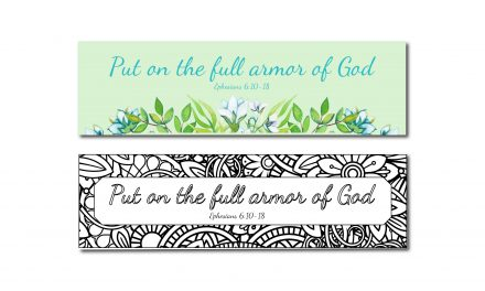 Printable Armor of God Bookmarks