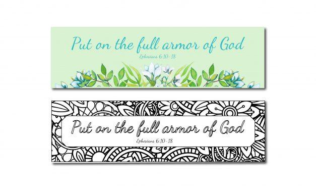 Printable Armor of God Bookmarks