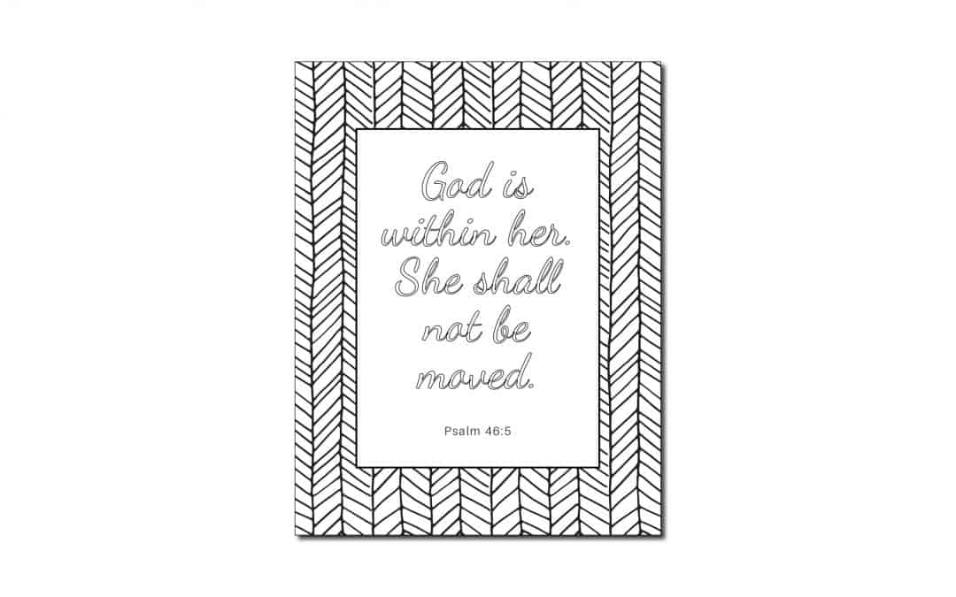 God is Within Her (Printable Coloring Page)