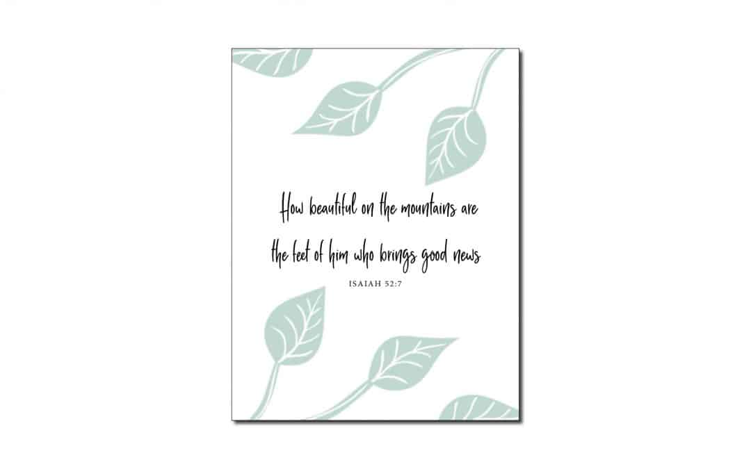 Isaiah 52:7 (Printable Wall Art)