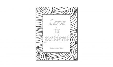 Love is Patient (Printable Coloring Page)