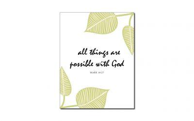 Mark 10:27 (Printable Wall Art)