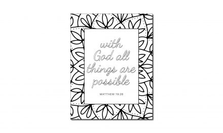 All things are possible (Printable Coloring Page)
