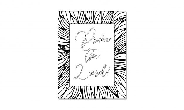Praise the Lord! (Printable Coloring Page)