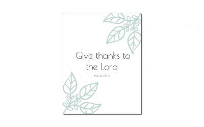Psalm 136:3 (Printable Wall Art)