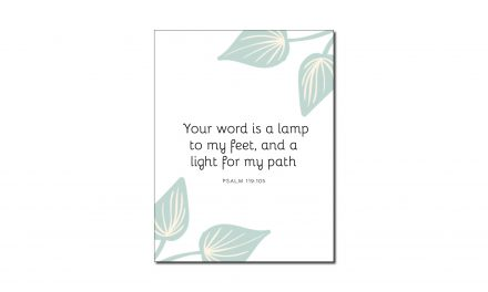 Psalm 119:105 (Printable Wall Art)