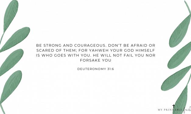 Deuteronomy 31:6 – FREE Desktop Wallpaper