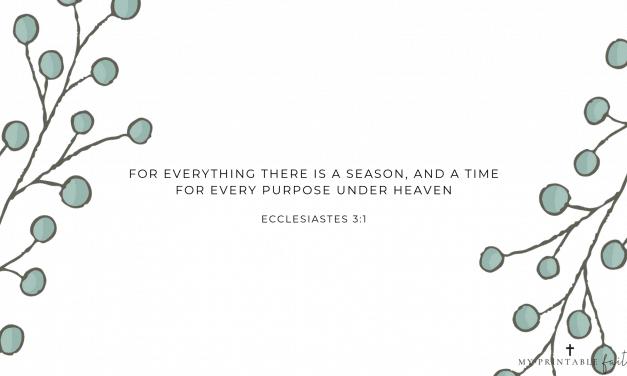 Ecclesiastes 3:1 – FREE Desktop Wallpaper