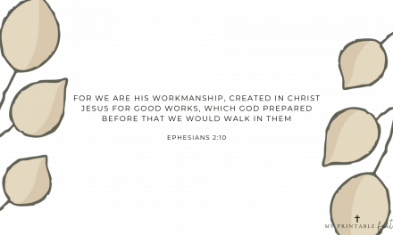 Ephesians 2:10 – FREE Desktop Wallpaper