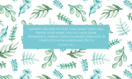 Isaiah 25:1 – FREE Desktop Wallpaper