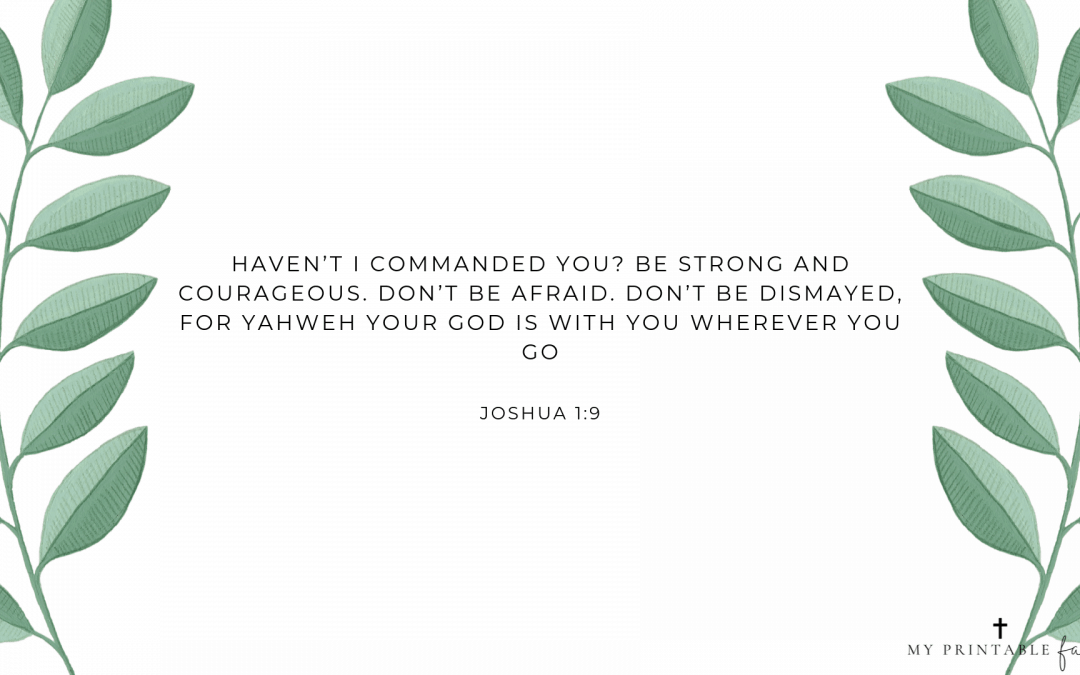 Joshua 1:9 – FREE Desktop Wallpaper