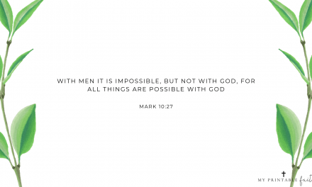 Mark 10:27 FREE Desktop Wallpaper