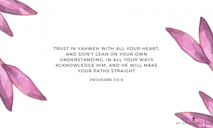 Proverbs 3:5-6 FREE Desktop Wallpaper