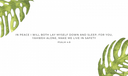 Psalm 4:8 – FREE Desktop Wallpaper