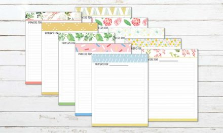 30 Printable Prayer Journal Pages