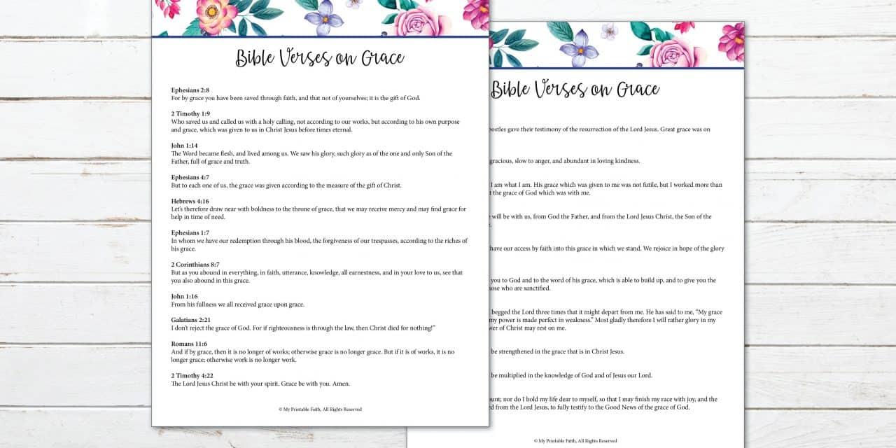 21 Bible Verses on Grace