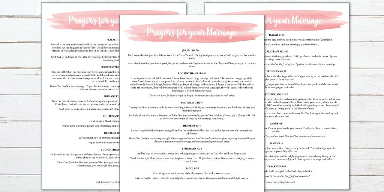 19 Scriptures to Pray for Your Marriage