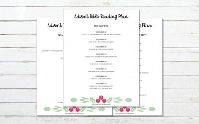 Advent Bible Reading Plan (With Printable)