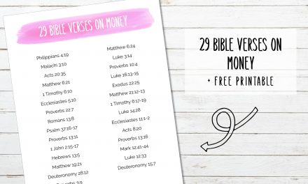 29 Bible Verses About Money