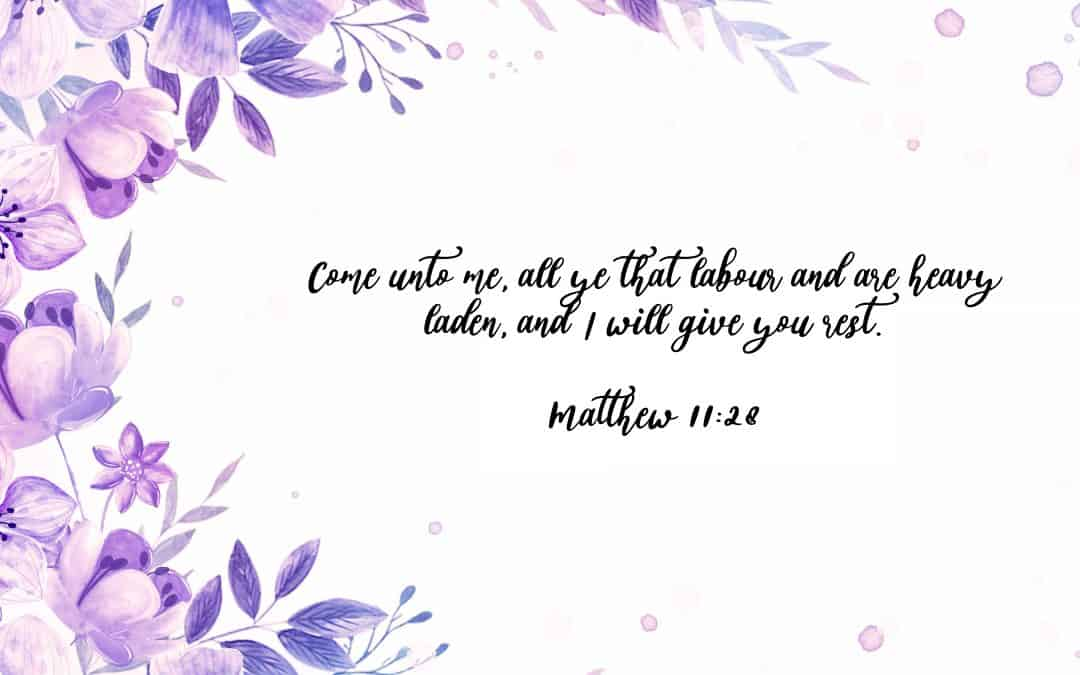 Matthew 11:28 – FREE Desktop Wallpaper