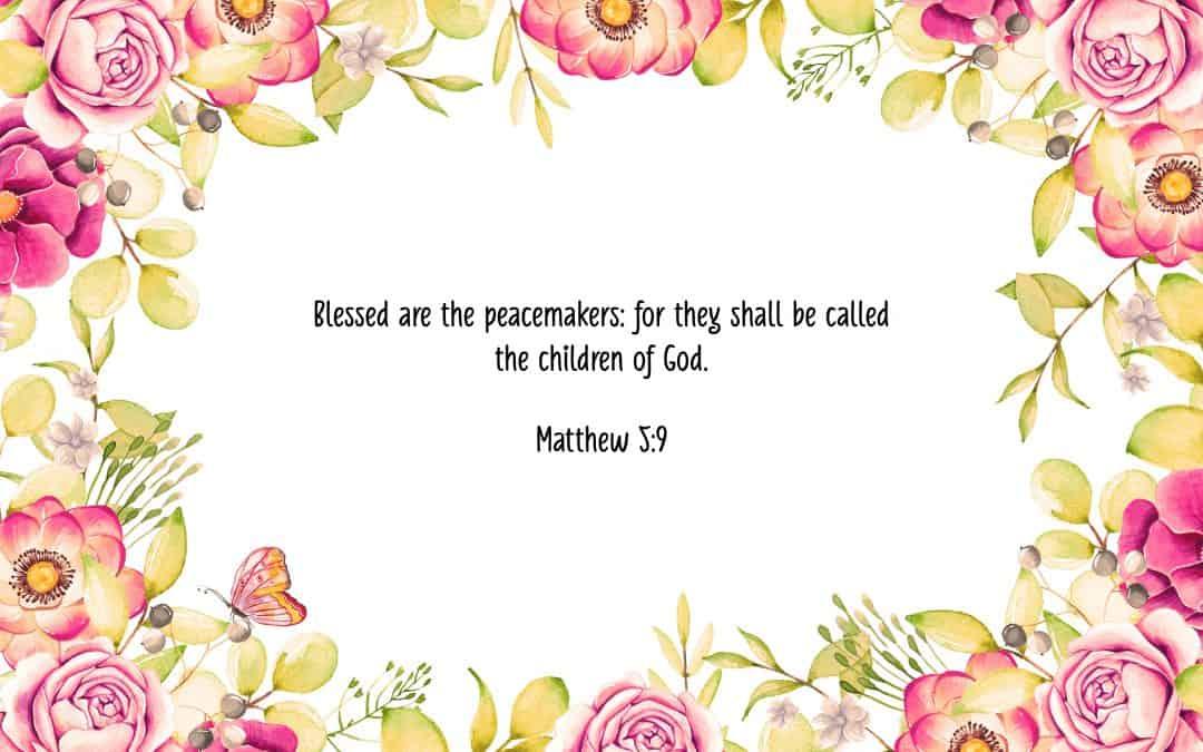Matthew 5:9 – FREE Desktop Wallpaper