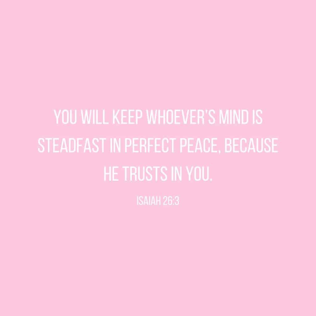Isaiah 26:3 Bible Verse Scripture