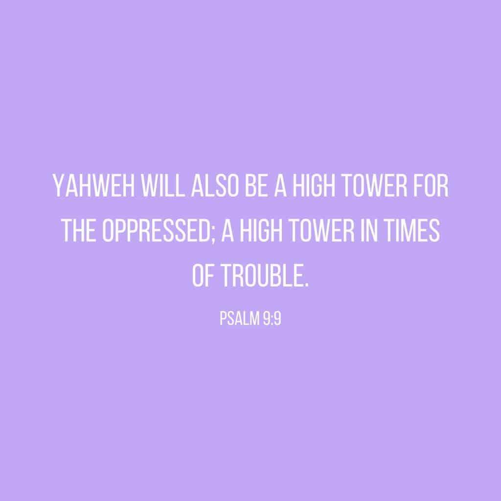 Psalm 9:9 Bible Verse Scripture