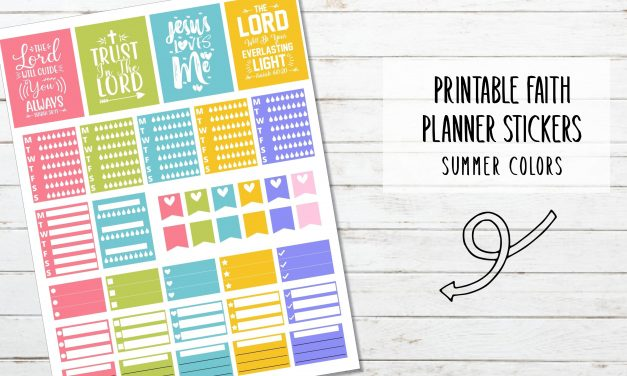 Printable Faith Planner Stickers