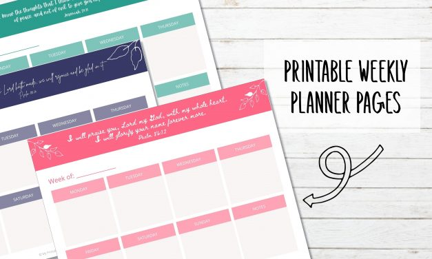 Printable Weekly Planner with Bible Verse