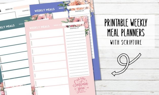 4 Vertical Weekly Meal Planners