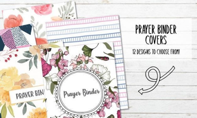 12 Printable Prayer Binder Covers