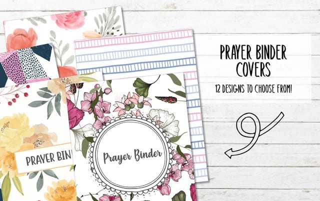 12 Printable Prayer Binder Covers