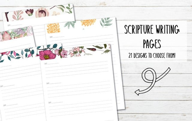 21 Printable Scripture Writing Pages