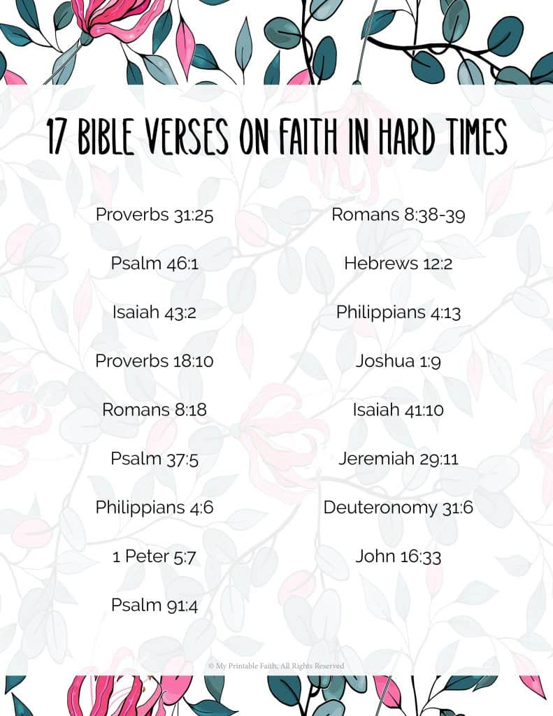 17 Bible Verses on Faith in Hard Times