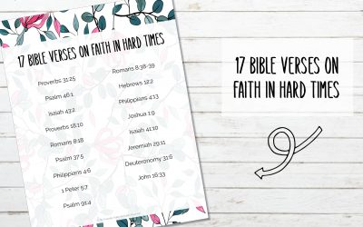 17 Bible Verses for Faith in Hard Times